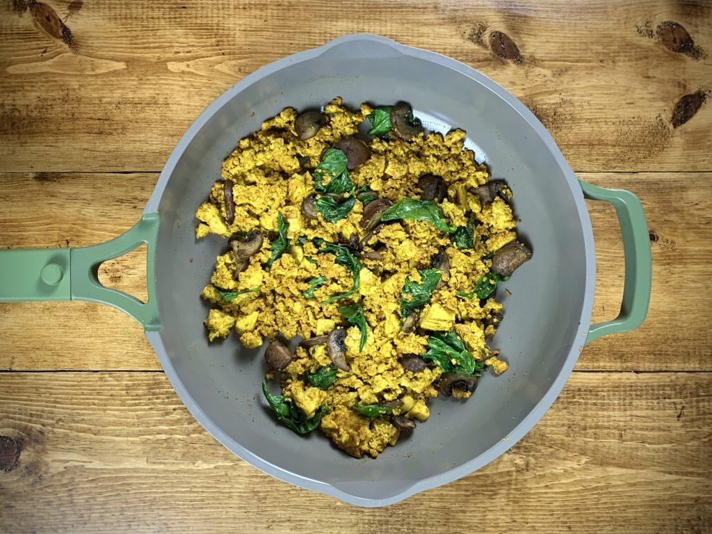 Veggie Tofu Scramble in Pan