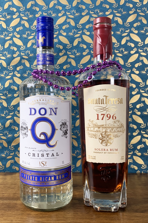 Don Q Cristal and Santa Teresa 1796 Solera Rum for Passionfruit La Croix cocktail.