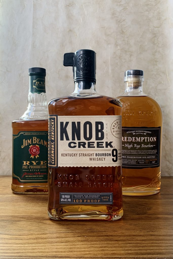 Ingredients for Whiskey Cocktails that don't require a shaker